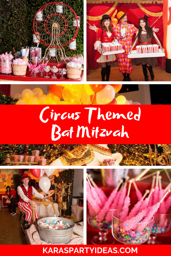 Circus Themed Bat Mitzvah via Kara's Party Ideas - KarasPartyIdeas.com