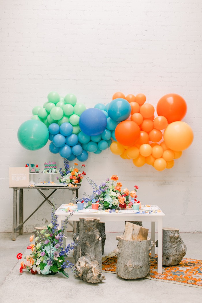 Colorful Dragon Birthday Party on Kara's Party Ideas | KarasPartyIdeas.com (22)