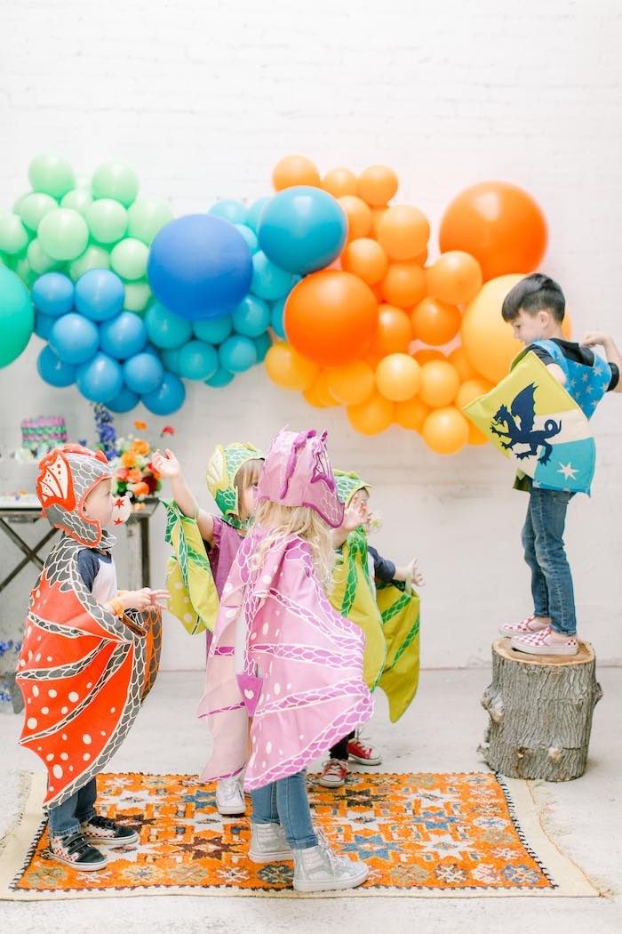 Colorful Dragon Birthday Party on Kara's Party Ideas | KarasPartyIdeas.com (5)