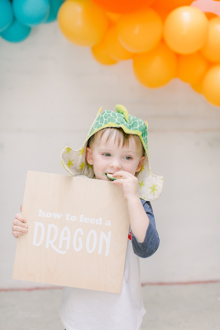 Colorful Dragon Birthday Party on Kara's Party Ideas | KarasPartyIdeas.com (3)