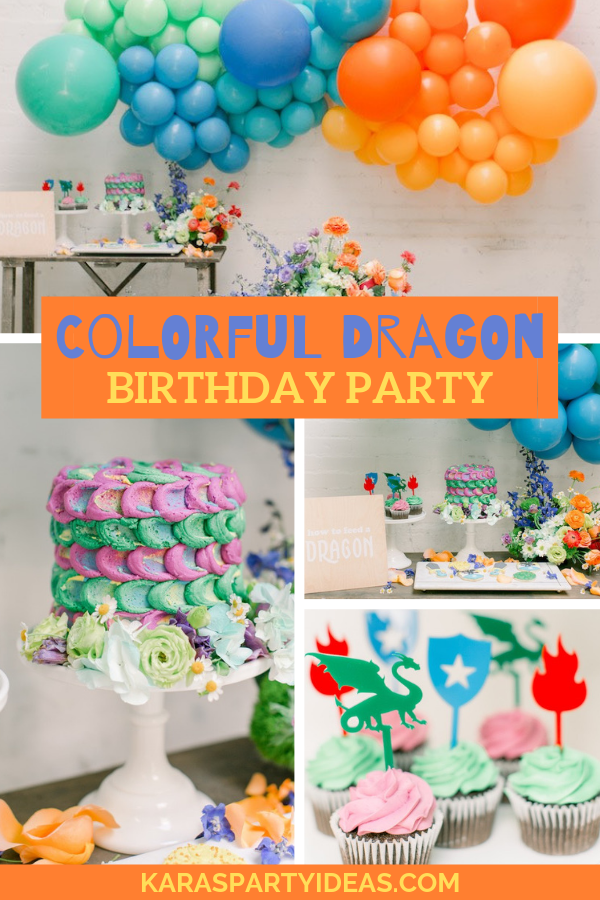 Colorful Dragon Birthday Party via Kara's Party Ideas - KarasPartyIdeas.com