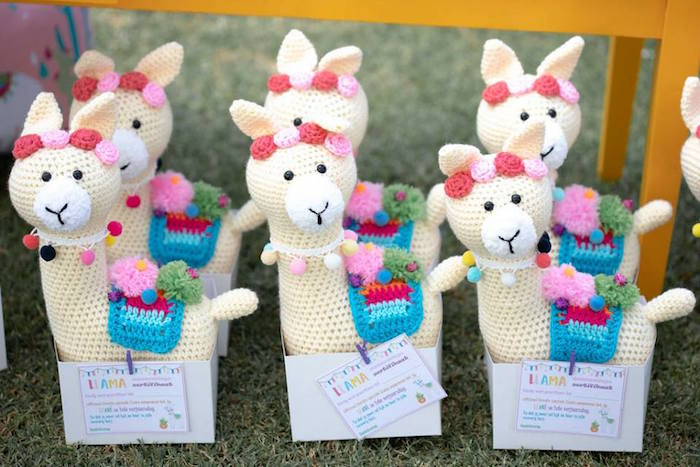 Knit Llama Favors from a Colorful Llama and Cactus Birthday Party on Kara's Party Ideas | KarasPartyIdeas.com (43)