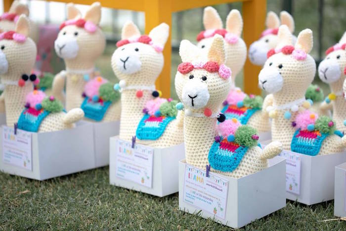 Adoptable Knit Llamas from a Colorful Llama and Cactus Birthday Party on Kara's Party Ideas | KarasPartyIdeas.com (13)