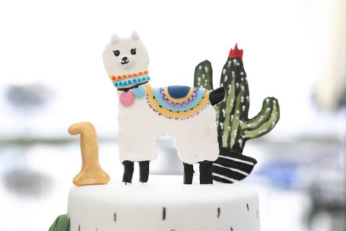 Llama + Cactus Cake Toppers from a Colorful Llama and Cactus Birthday Party on Kara's Party Ideas | KarasPartyIdeas.com (37)