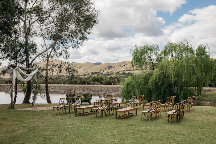 Country Wedding Ceremony Venue from a Country Boho Wedding on Kara's Party Ideas | KarasPartyIdeas.com (26)