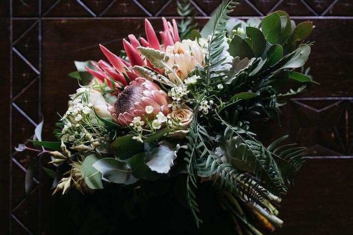 Boho Bridal Bouquet from a Country Boho Wedding on Kara's Party Ideas | KarasPartyIdeas.com (25)