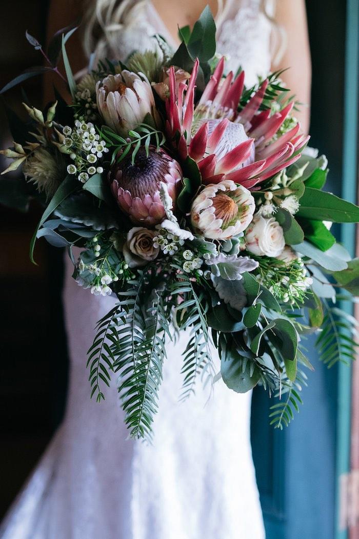Boho Bridal Bouquet from a Country Boho Wedding on Kara's Party Ideas | KarasPartyIdeas.com (24)