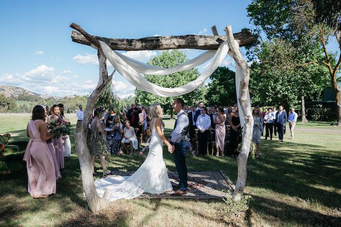 Boho Wedding Arch from a Country Boho Wedding on Kara's Party Ideas | KarasPartyIdeas.com (22)