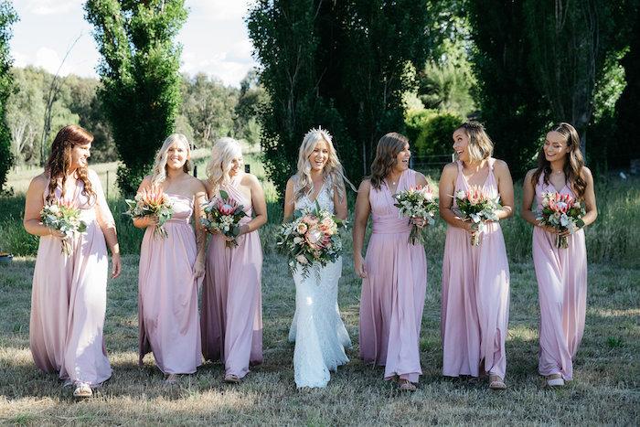 Bride & Bridesmaids from a Country Boho Wedding on Kara's Party Ideas | KarasPartyIdeas.com (21)