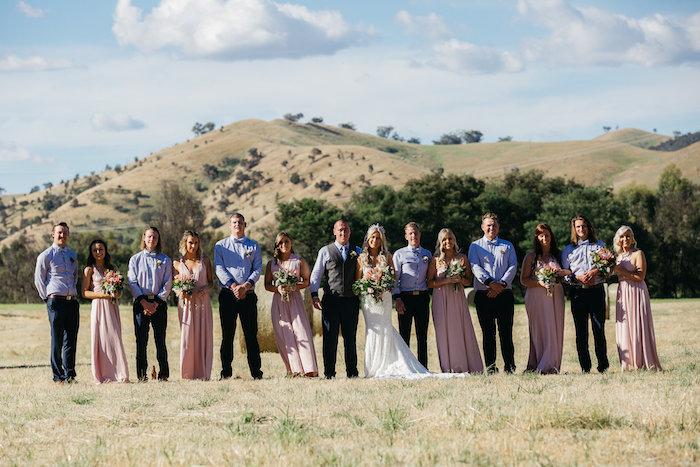 Wedding Party from a Country Boho Wedding on Kara's Party Ideas | KarasPartyIdeas.com (20)