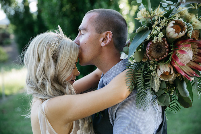 Bride & Groom from a Country Boho Wedding on Kara's Party Ideas | KarasPartyIdeas.com (16)
