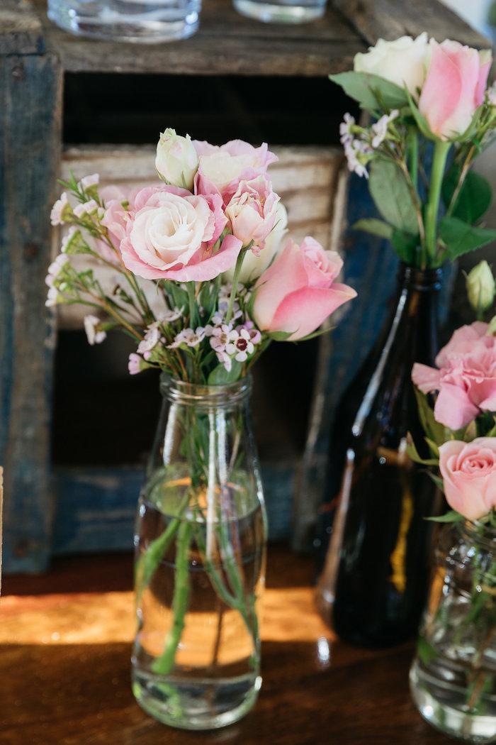 Bottle Blooms from a Country Boho Wedding on Kara's Party Ideas | KarasPartyIdeas.com (12)