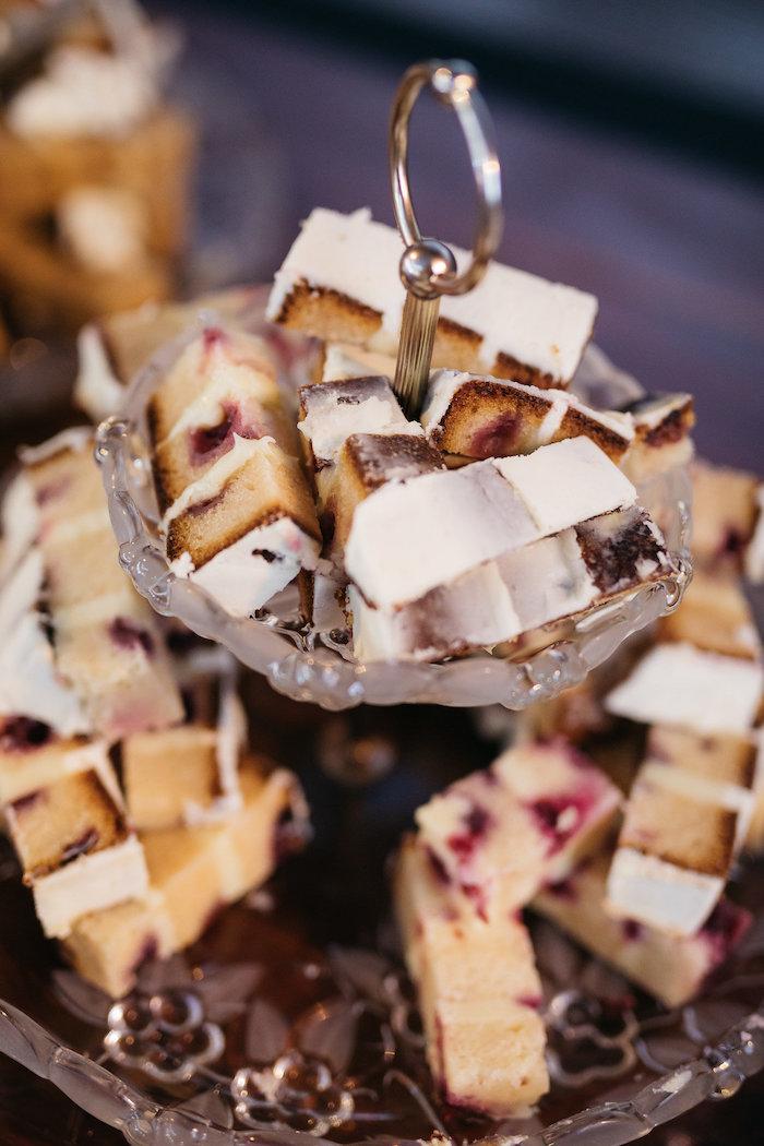 Sliced Cake from a Country Boho Wedding on Kara's Party Ideas | KarasPartyIdeas.com (8)