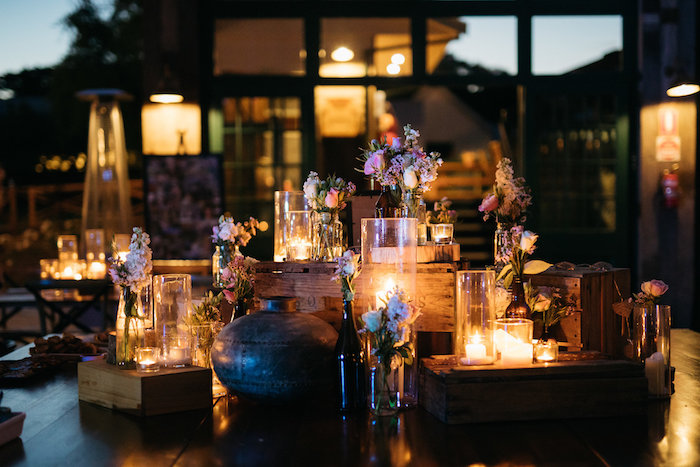 Crates & Candles from a Country Boho Wedding on Kara's Party Ideas | KarasPartyIdeas.com (5)