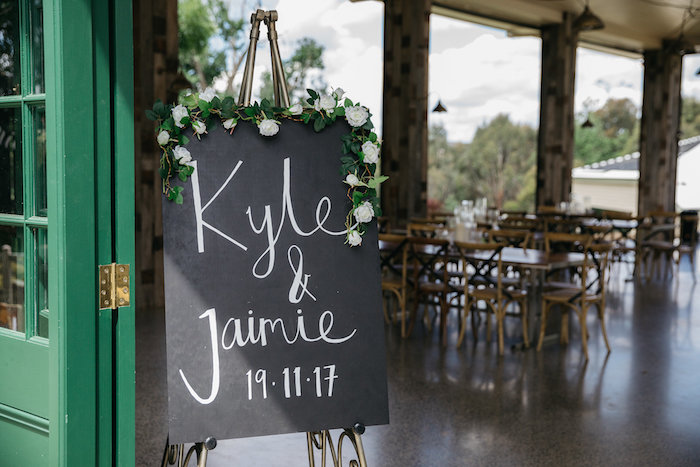 Lettered Wedding Chalkboard Sign from a Country Boho Wedding on Kara's Party Ideas | KarasPartyIdeas.com (33)