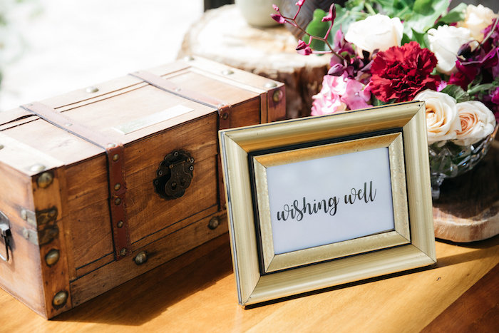 Wooden Chest Card Box from a Country Boho Wedding on Kara's Party Ideas | KarasPartyIdeas.com (28)