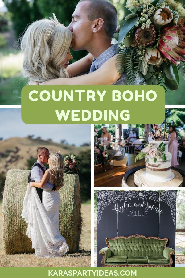 Country Boho Wedding via Kara's Party Ideas - KarasPartyIdeas.com