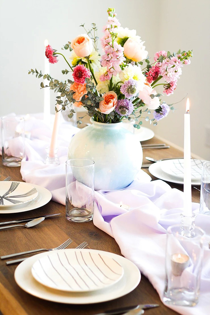 Spring Dinign Table from a DIY Sunny Spring Tablescape on Kara's Party Ideas | KarasPartyIdeas.com (15)