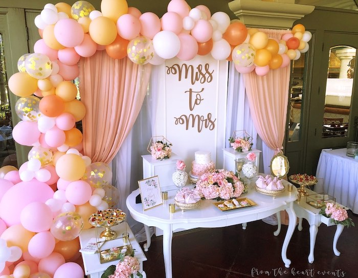 "Elegant ""Miss to Mrs"" Bridal Shower Brunch on Kara's Party Ideas 