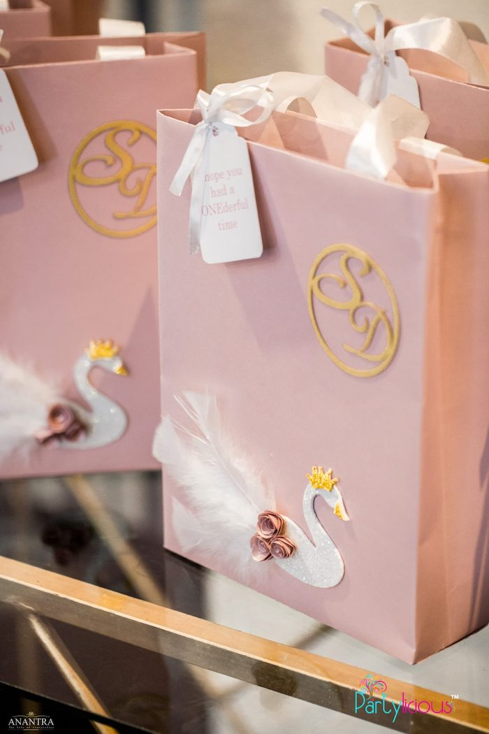 Swan-inspired Gift/Favor Bag from an Elegant Swan Soiree on Kara's Party Ideas | KarasPartyIdeas.com (24)