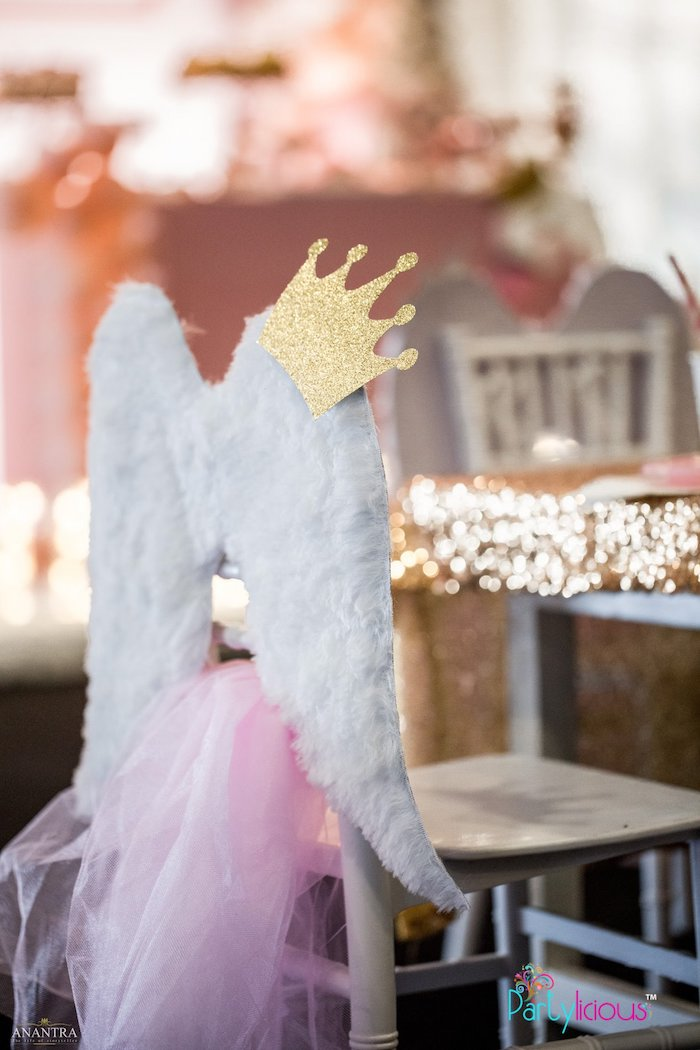 Winged Chair from an Elegant Swan Soiree on Kara's Party Ideas | KarasPartyIdeas.com (17)