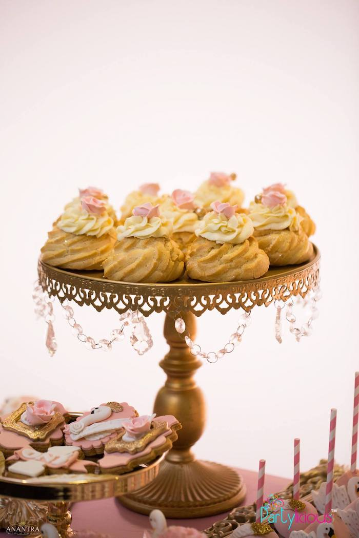 Cream Puffs from an Elegant Swan Soiree on Kara's Party Ideas | KarasPartyIdeas.com (34)
