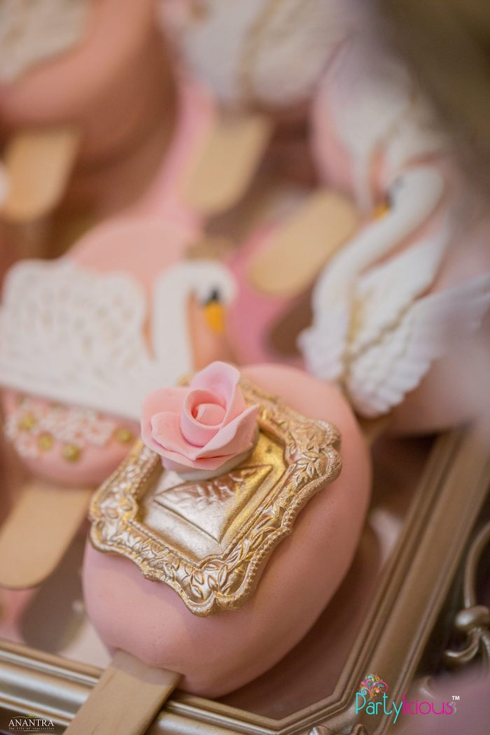 Rose & Swan Cakesicles from an Elegant Swan Soiree on Kara's Party Ideas | KarasPartyIdeas.com (15)