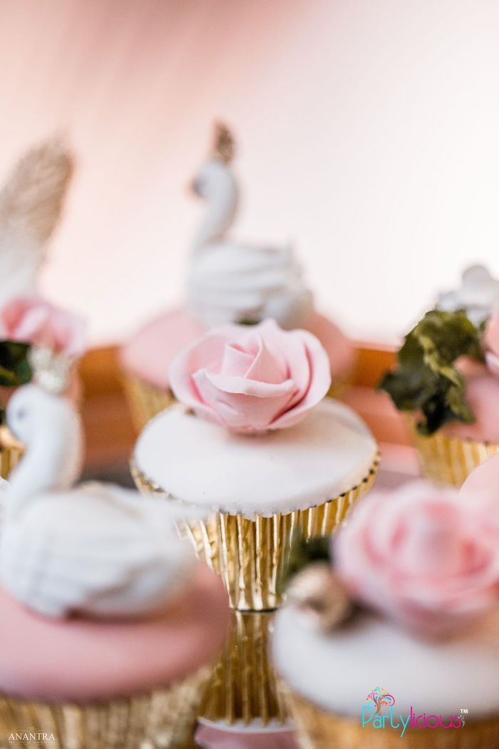 Rose Cupcake from an Elegant Swan Soiree on Kara's Party Ideas | KarasPartyIdeas.com (32)