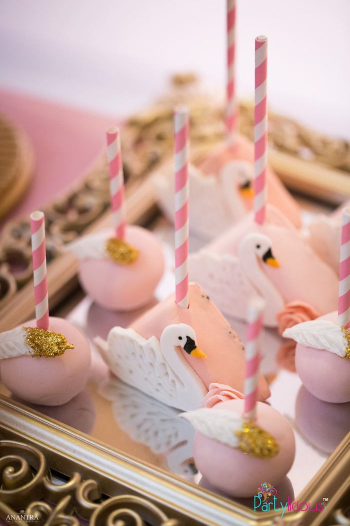 Swan Themed Cake Pops from an Elegant Swan Soiree on Kara's Party Ideas | KarasPartyIdeas.com (30)