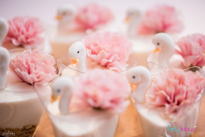 Swan Dessert Cups from an Elegant Swan Soiree on Kara's Party Ideas | KarasPartyIdeas.com (26)