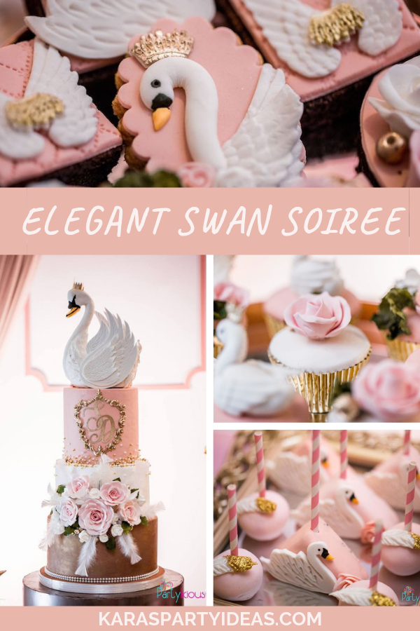 Elegant Swan Soiree via Kara's Party Ideas - KarasPartyIdeas.com