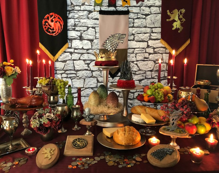 Game of Thrones Party Table from a Game of Thrones Party on Kara's Party Ideas | KarasPartyIdeas.com (20)