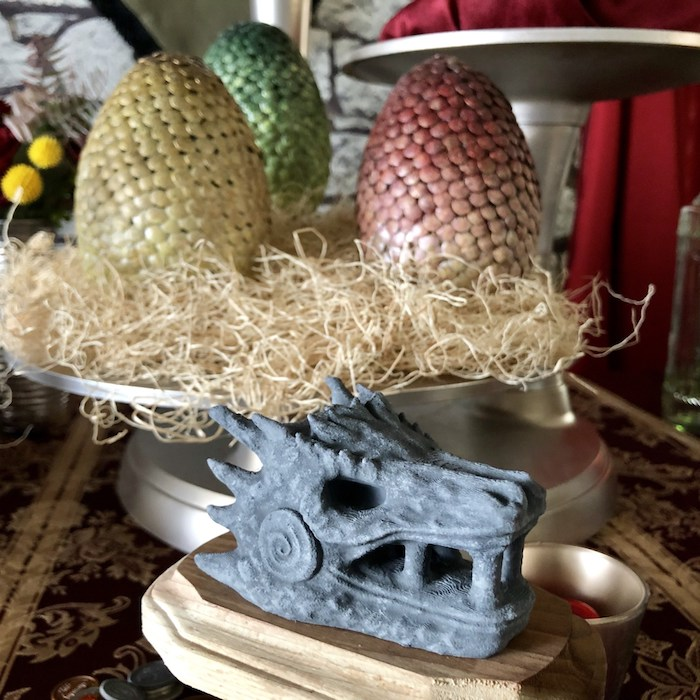 Stone Dragon from a Game of Thrones Party on Kara's Party Ideas | KarasPartyIdeas.com (18)