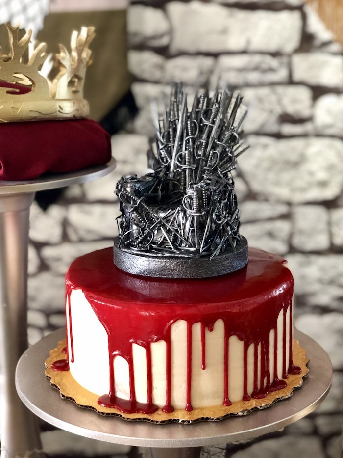 Iron Throne Cake from a Game of Thrones Party on Kara's Party Ideas | KarasPartyIdeas.com (15)