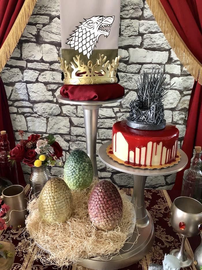 Game of Thrones Cake + Joffrey Baratheon's Crown from a Game of Thrones Party on Kara's Party Ideas | KarasPartyIdeas.com (14)