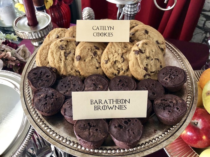 Catelyn Cookies & Baratheon Brownies from a Game of Thrones Party on Kara's Party Ideas | KarasPartyIdeas.com (12)
