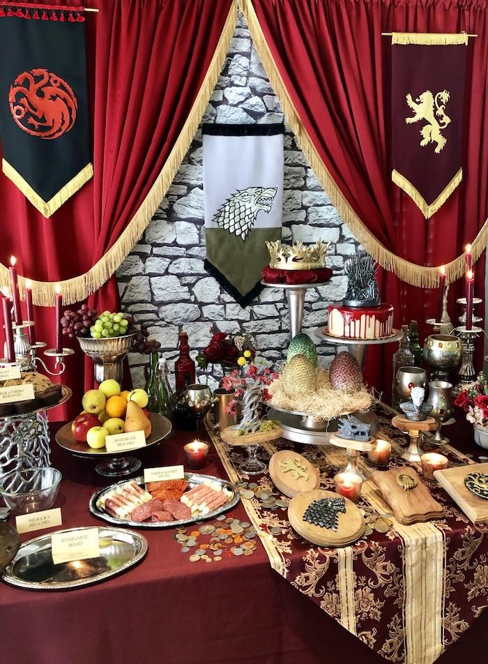 Game of Thrones Party Table from a Game of Thrones Party on Kara's Party Ideas | KarasPartyIdeas.com (8)