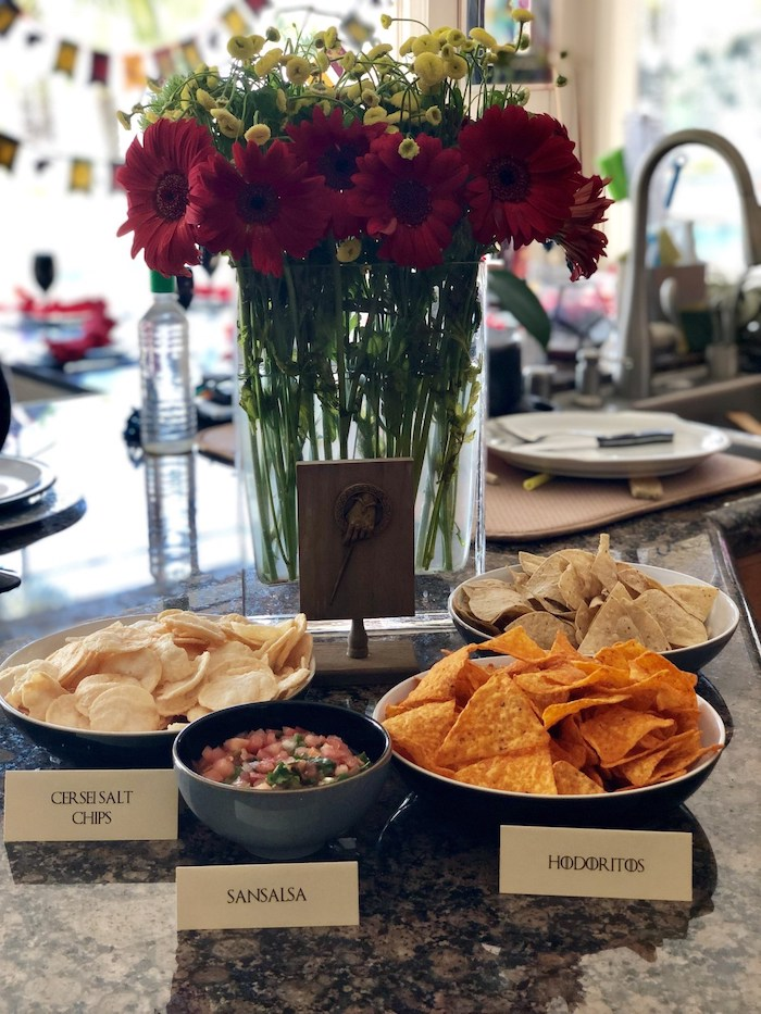 Game of Thrones Chips & Salsa from a Game of Thrones Party on Kara's Party Ideas | KarasPartyIdeas.com (7)