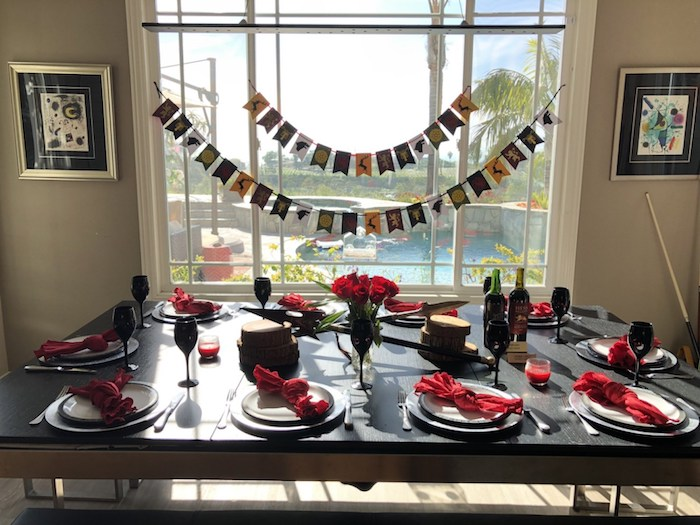 Game of Thrones-inspired Dining Table from a Game of Thrones Party on Kara's Party Ideas | KarasPartyIdeas.com (6)