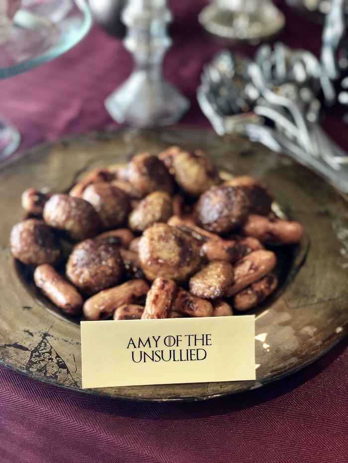Amy Of The Unsullied Food Plate from a Game of Thrones Party on Kara's Party Ideas | KarasPartyIdeas.com (5)