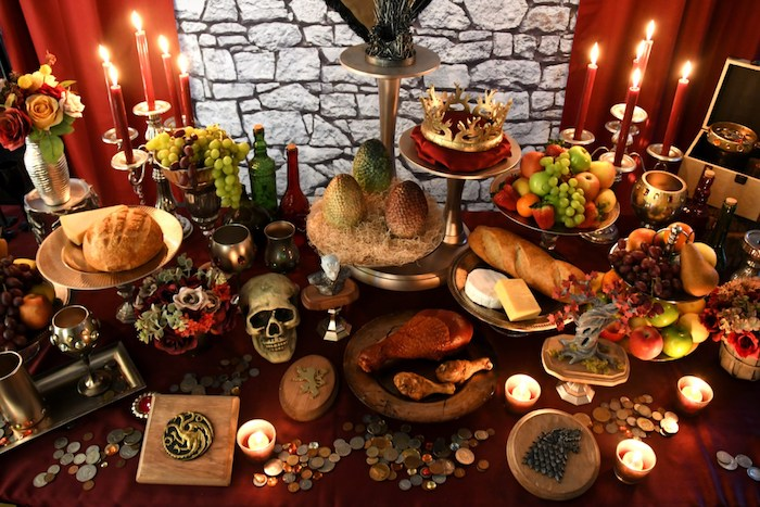 Game of Thrones Party Table from a Game of Thrones Party on Kara's Party Ideas | KarasPartyIdeas.com (24)