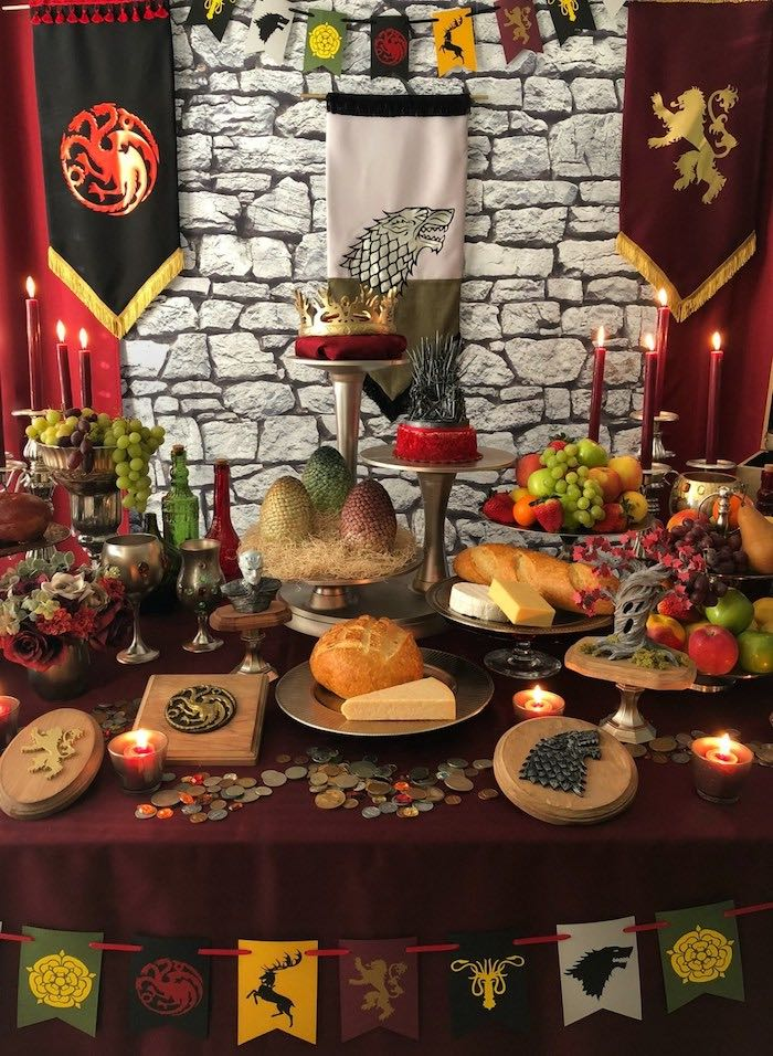 Game of Thrones Party Table from a Game of Thrones Party on Kara's Party Ideas | KarasPartyIdeas.com (23)