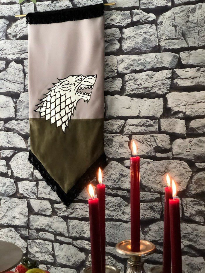 House Banner from a Game of Thrones Party on Kara's Party Ideas | KarasPartyIdeas.com (22)