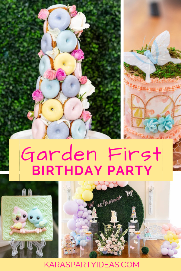 Garden First Birthday Party via Kara's Party Ideas - KarasPartyIdeas.com (1)