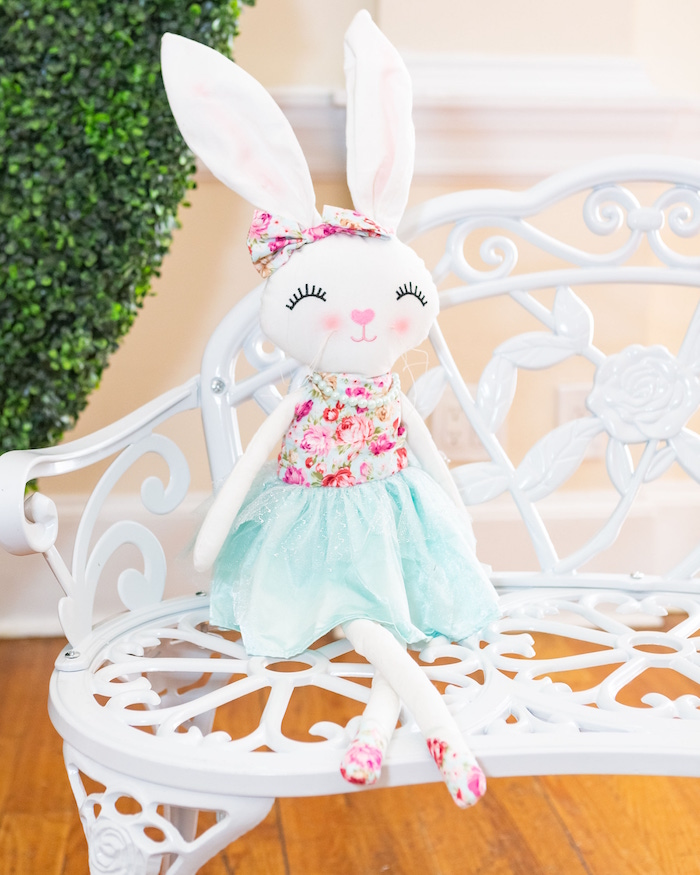Plush Bunny from a Garden First Birthday Party on Kara's Party Ideas | KarasPartyIdeas.com (21)