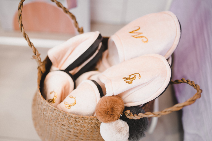 Personalized Spa Slippers from a Girls' Day Out Spa Birthday Party on Kara's Party Ideas | KarasPartyIdeas.com (6)