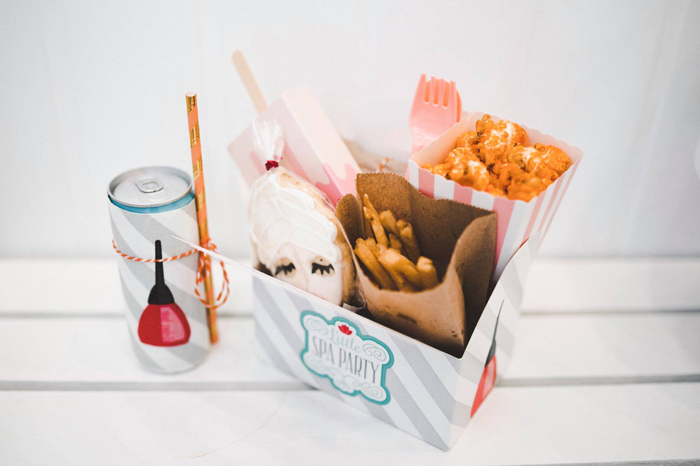 Spa-inspired Lunch Box + Soda Can from a Girls' Day Out Spa Birthday Party on Kara's Party Ideas | KarasPartyIdeas.com (18)