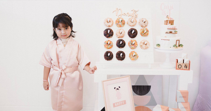 Donut Board from a Girls' Day Out Spa Birthday Party on Kara's Party Ideas | KarasPartyIdeas.com (15)