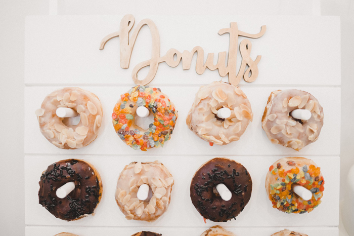 Donut Board from a Girls' Day Out Spa Birthday Party on Kara's Party Ideas | KarasPartyIdeas.com (13)