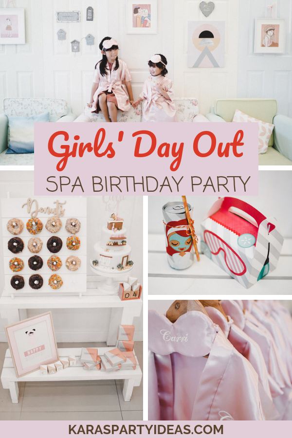 Girls' Day Out Spa Birthday Party via KarasPartyIdeas - KarasPartyIdeas